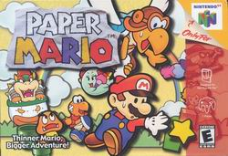 Paper Mario (USA) Box Scan